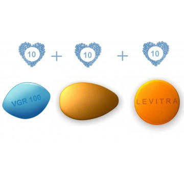ED Advanced Pack - Generic Viagra 100 mg, Generic Cialis 20 mg  and  Generic Levitra 20 mg - 10 pills each