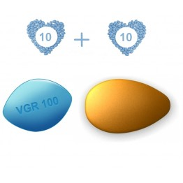 ED Medium Pack - Generic Viagra 100 mg and Generic Cialis 20 mg - 10 pills each