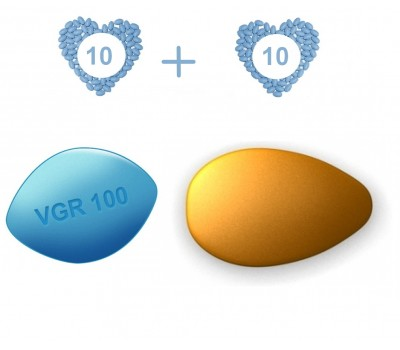 ED Medium Pack - Generic Viagra 100 mg and Cialis 20 mg - 10 pills each