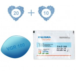 Jelly Pack 30 - Viagra (20 pills) and Viagra Jelly (10 sachets), both at 100 mg