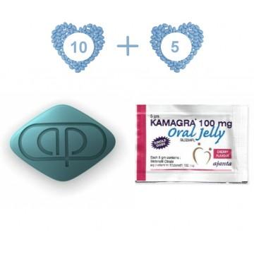 Kamagra Pack 15 - 100 mg Kamagra 10 pills 100 mg Kamagra Jelly (5 Sachets)