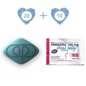Kamagra Pack 30 - 100 mg Kamagra (20 Pills) and 100 mg Kamagra Jelly (10 Sachets)