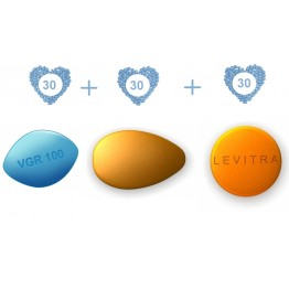 ED Super Pack - Generic Viagra 100 mg, Generic Cialis 20 mg  and  Generic Levitra 20 mg - 30 pills each